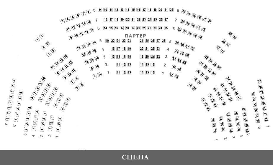 Большой театр схема зала