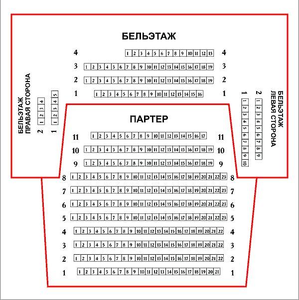 Театр Луны. Схемы залов