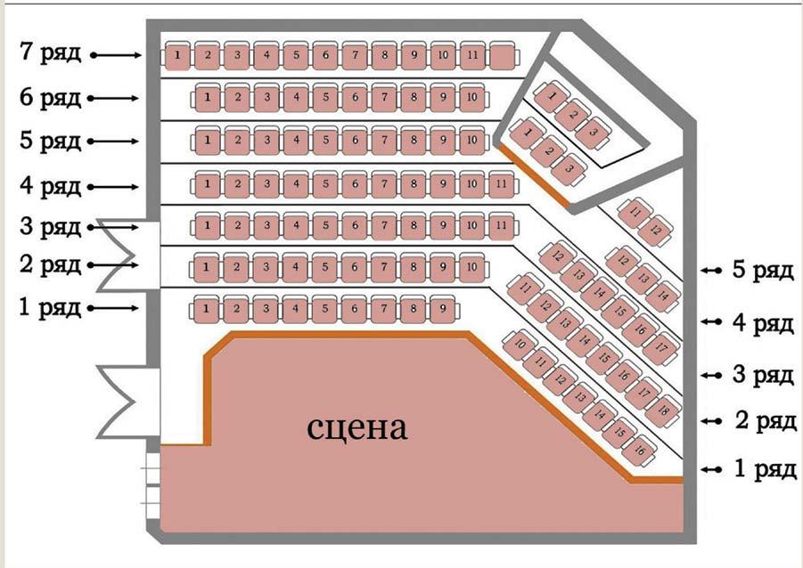 схема зала театра на Перовской