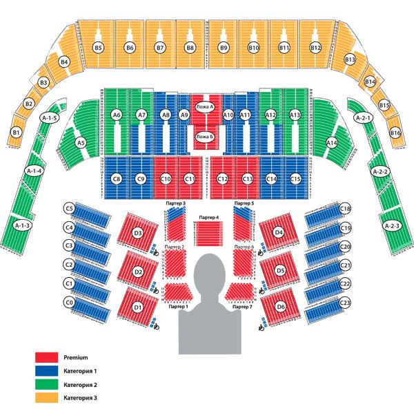 схема зала олимпийский цирк дю