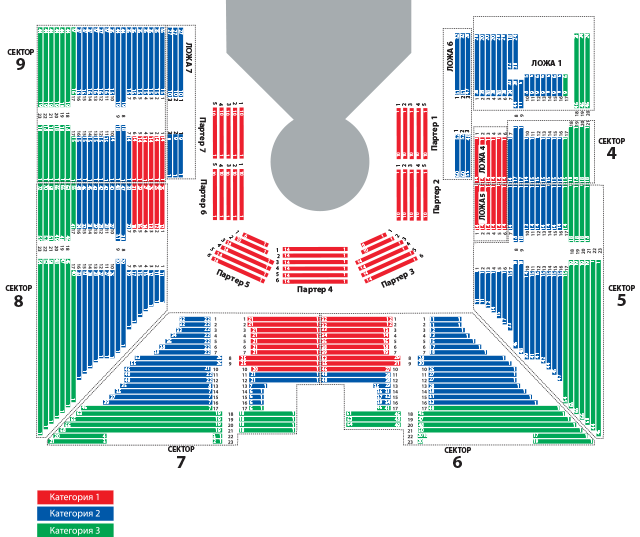 Схема размещения зрителей в СК