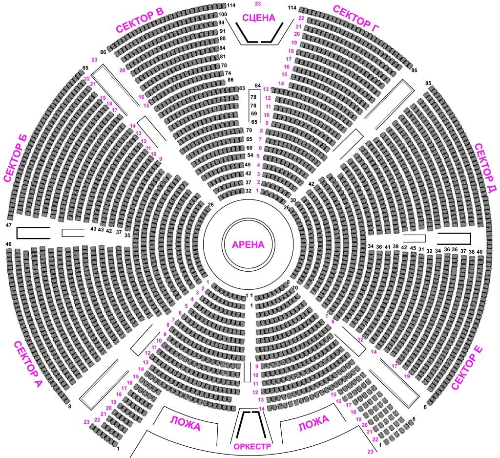 Схема зала вернадском
